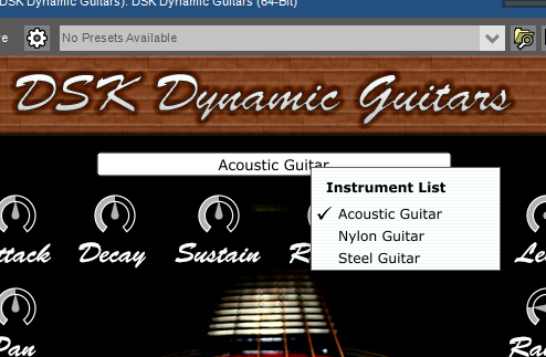 DSK Dynamic Guitar instruments.